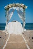Detalles de la boda de playa Fotos de archivo libres de regalías