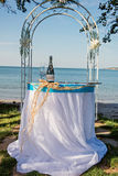 Detalles de la boda de playa Fotos de archivo
