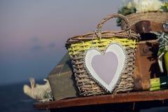 Detalles de la boda de playa Imagen de archivo