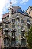 Detalles de la casa de Gaudi Imagenes de archivo