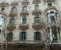 Detalles de la casa de Gaudi Fotografía de archivo