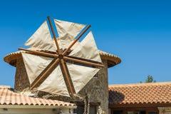 Detalles de la casa del molino de viento Foto de archivo libre de regalías