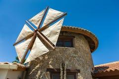 Detalles de la casa del molino de viento Imagen de archivo