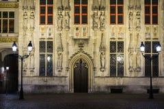 Detalles de la casa en Brujas, Bélgica fotografía de archivo