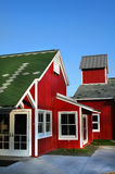 Detalles de la casa roja Imagen de archivo