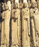 Detalles de la catedral de Chartres Francia Imagenes de archivo