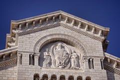 Detalles de la catedral en Mónaco Foto de archivo