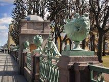 Detalles de la cerca del palacio de Tauride en la calle de Shpalernaya Imagenes de archivo