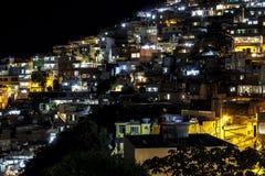 Detalles de la colina de Vidigal en Rio de Janeiro fotografía de archivo