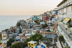 Detalles de la colina de Vidigal en Rio de Janeiro imágenes de archivo libres de regalías
