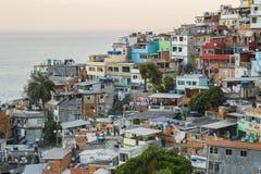 Detalles de la colina de Vidigal en Rio de Janeiro fotografía de archivo libre de regalías
