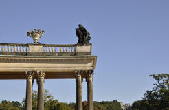Detalles de la columna del palacio de Sanssouci en Potsdam, Alemania fotografía de archivo