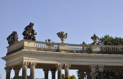 Detalles de la columna del palacio de Sanssouci en Potsdam, Alemania Imagen de archivo libre de regalías