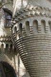 Detalles de la construcción del castillo Imagen de archivo libre de regalías
