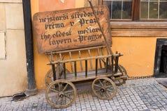 Detalles de la decoración de la calle Praga, República Checa fotos de archivo