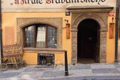 Detalles de la decoración de la calle Praga, República Checa fotos de archivo libres de regalías