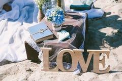 Detalles de la decoración con tema del amor Foto de archivo libre de regalías