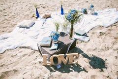 Detalles de la decoración con tema del amor Fotos de archivo libres de regalías
