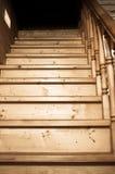Detalles de la escalera de madera rústica Foto de archivo libre de regalías