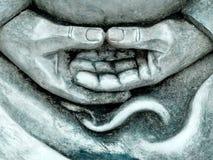 Detalles de la estatua del zen Fotografía de archivo libre de regalías