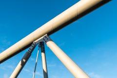 Detalles de la estructura del puente Imagen de archivo libre de regalías