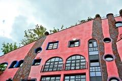 Detalles de la fachada de la casa de Hundertwasser fotos de archivo libres de regalías