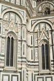 Detalles de la fachada de mármol adornada en Florence Cathedral Fotografía de archivo libre de regalías