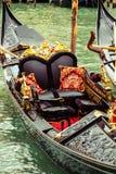 Detalles de la góndola en Venecia foto de archivo libre de regalías