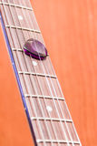 Detalles de la guitarra Imagen de archivo