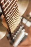 Detalles de la guitarra Imágenes de archivo libres de regalías