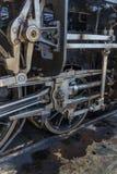 Detalles de la locomotora de vapor vieja Imagenes de archivo