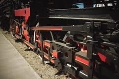 Detalles de la locomotora de vapor polaca fotografía de archivo