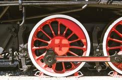 Detalles de la locomotora de vapor polaca fotos de archivo libres de regalías