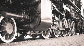 Detalles de la locomotora de vapor polaca fotos de archivo