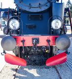 Detalles de la locomotora de vapor polaca foto de archivo libre de regalías
