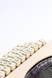 Detalles de la máquina de escribir Imagenes de archivo