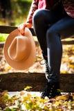 Detalles de la moda del otoño Fotos de archivo