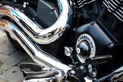 Detalles de la moto Fotografía de archivo