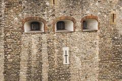 Detalles de la pared de la torre de Londres Imagen de archivo