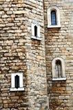 Detalles de la pared del castillo Imagen de archivo libre de regalías