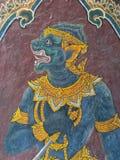 Detalles de la pared del palacio magnífico, Bangkok foto de archivo libre de regalías