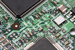 Detalles de la placa de circuito foto de archivo