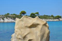 Detalles de la playa de Karidi Foto de archivo libre de regalías