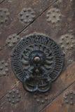 Detalles de la puerta de las Edades Medias Fotografía de archivo libre de regalías