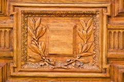 Detalles de la puerta de madera vieja Foto de archivo libre de regalías