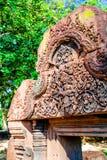 Detalles de la puerta de piedra vieja Fotografía de archivo libre de regalías