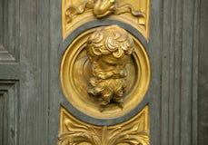Detalles de la puerta del paraíso, Florencia, Italia Imagen de archivo