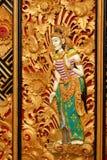 Detalles de la puerta en el templo de Bratan en Bali Foto de archivo libre de regalías