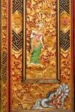 Detalles de la puerta en el templo de Bratan en Bali Imágenes de archivo libres de regalías