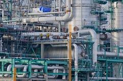 Detalles de la refinería en el acceso de Rotterdam Foto de archivo libre de regalías